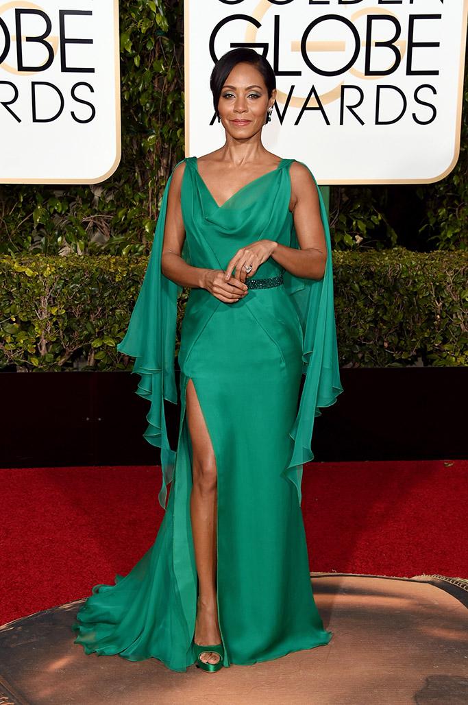 Jada Pinkett Smith Golden Globes Red Carpet 2016