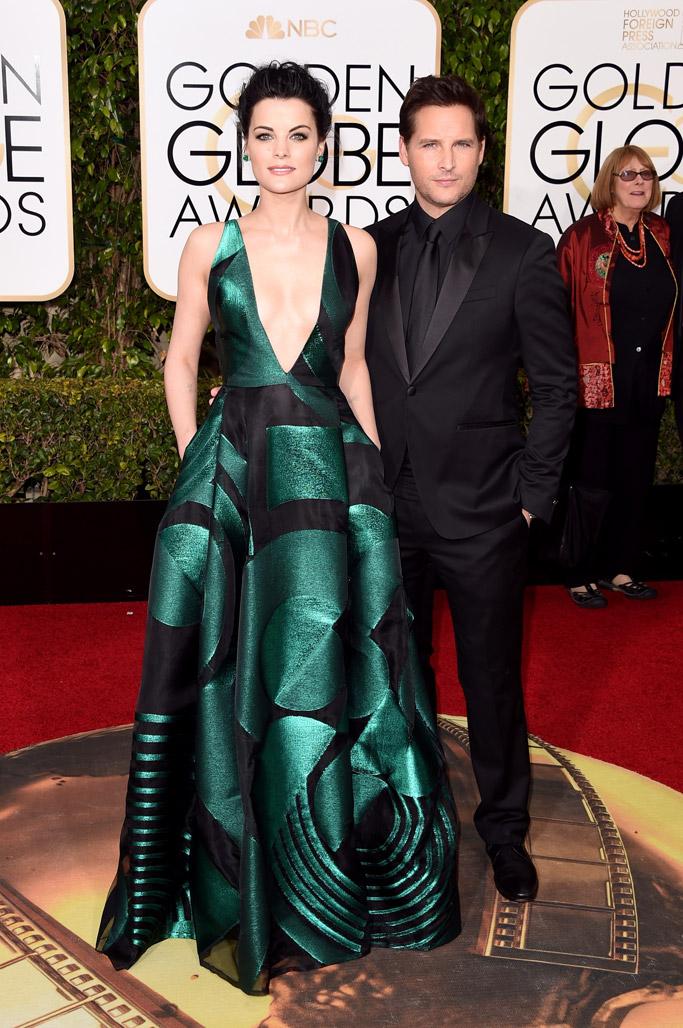 Jaimie Alexander & Peter Facinelli Golden Globes Red Carpet 2016