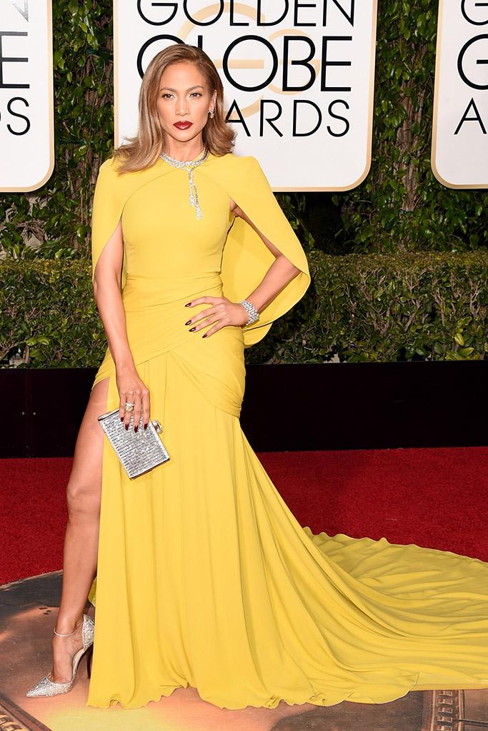 Jennifer Lopez Golden Globes Red Carpet 2016