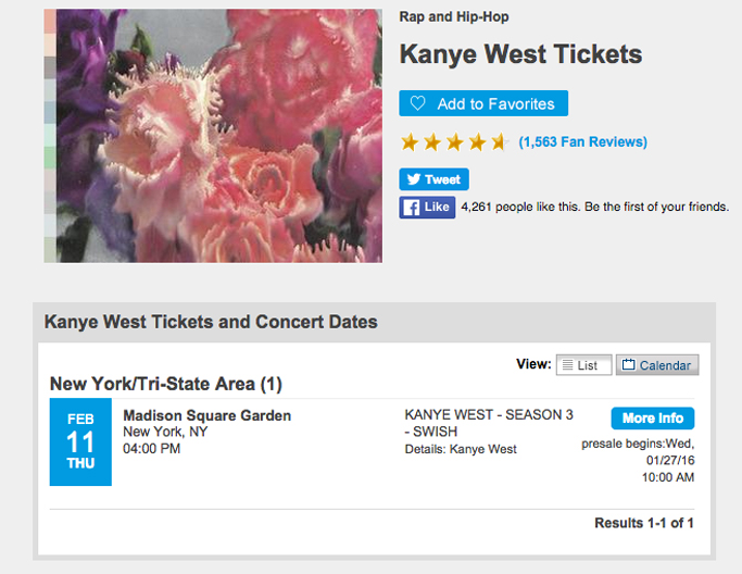 Kanye West Yeezy Season 3 Swish Madison Square Garden