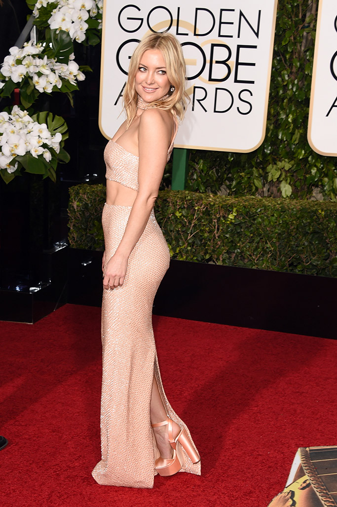 Kate Hudson Golden Globes Red Carpet 2016