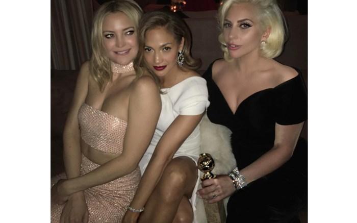Golden Globes 2016 Jennifer Lopez Kate Hudson Lady Gaga