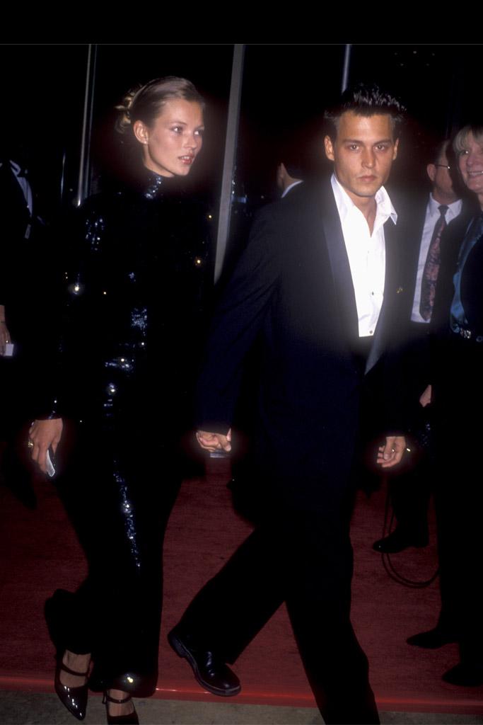 Kate Moss Golden Globes Red Carpet