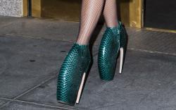 Lady Gaga Alexander McQueen Armadillo Shoes