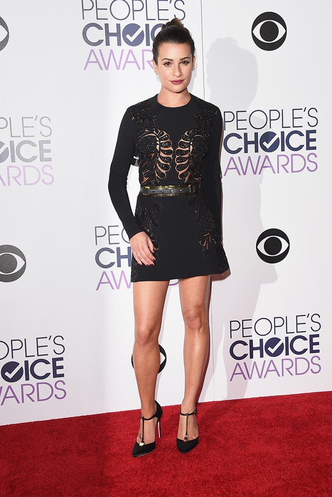 Lea Michele People's Choice Awards 2016 Red Carpet