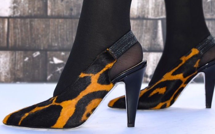 High Heeled Art leopard sling