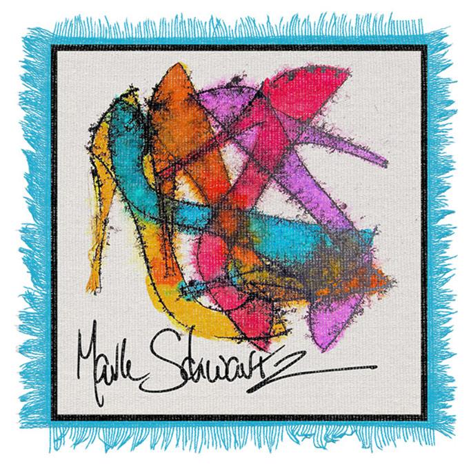 High Heeled Art scarf