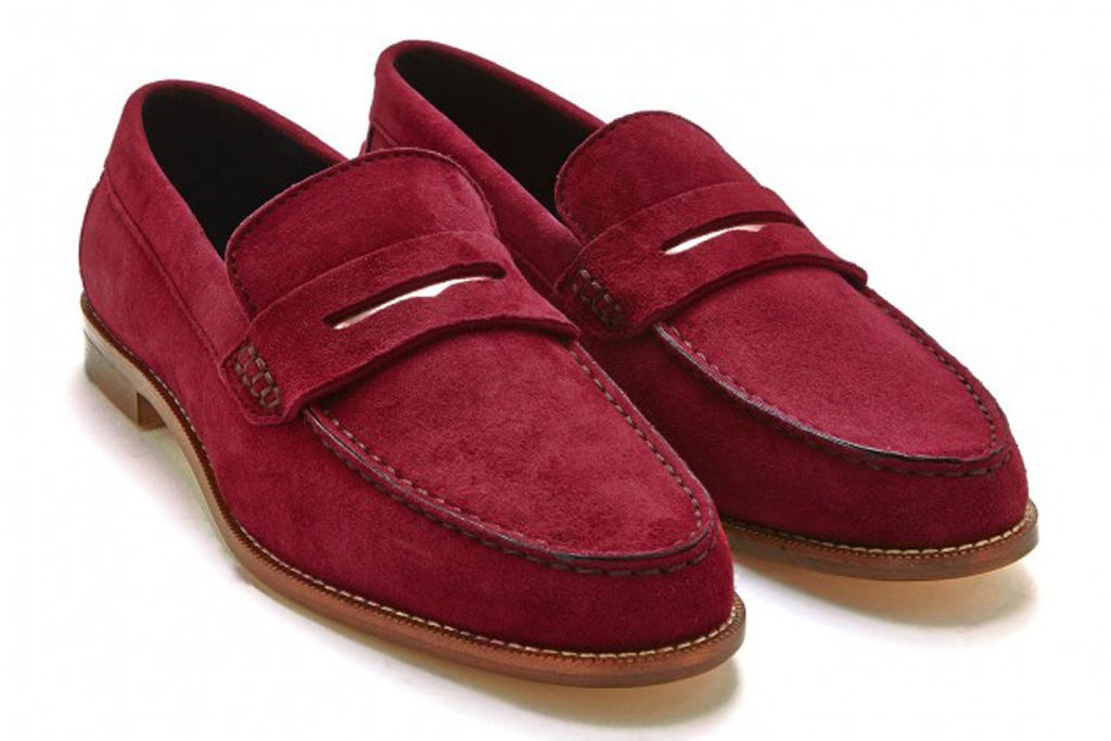 Meandher Valentina suede penny loafers, $425.
