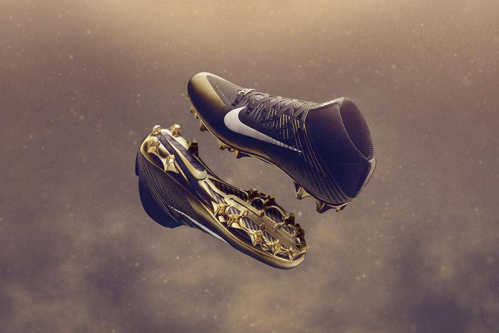 Nike Super Bowl 50 Gold Collection Cleats
