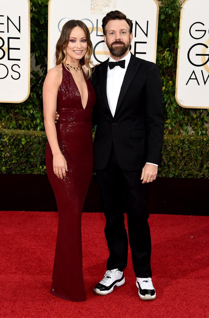 Olivia Wilde & Jason Sudeikis Golden Globes Red Carpet 2016