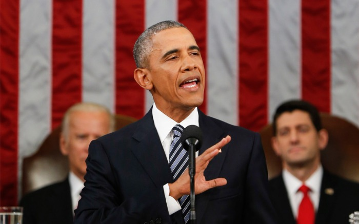 President Obama during the 2016 State of the Union