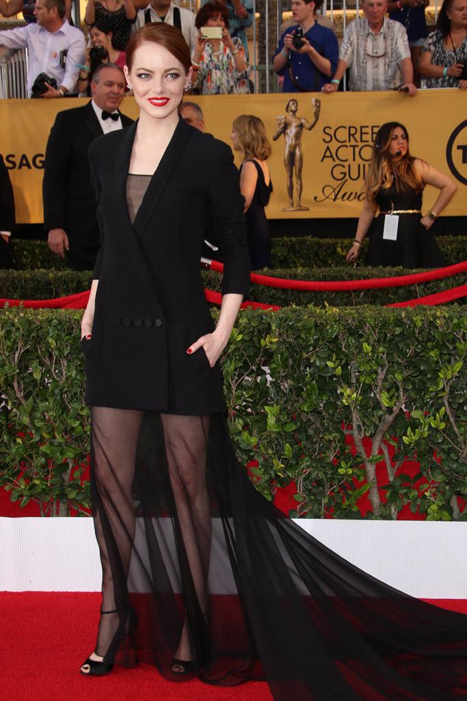 Emma Stone SAG awards red carpet