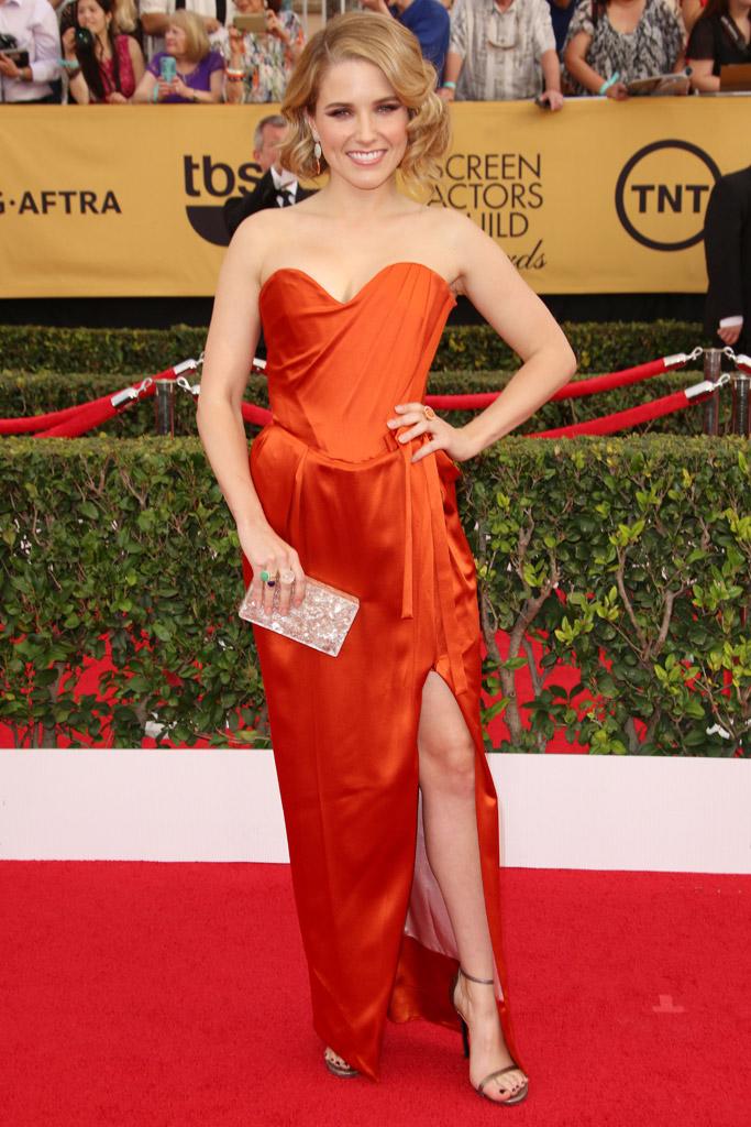 Sophia Bush SAG awards red carpet