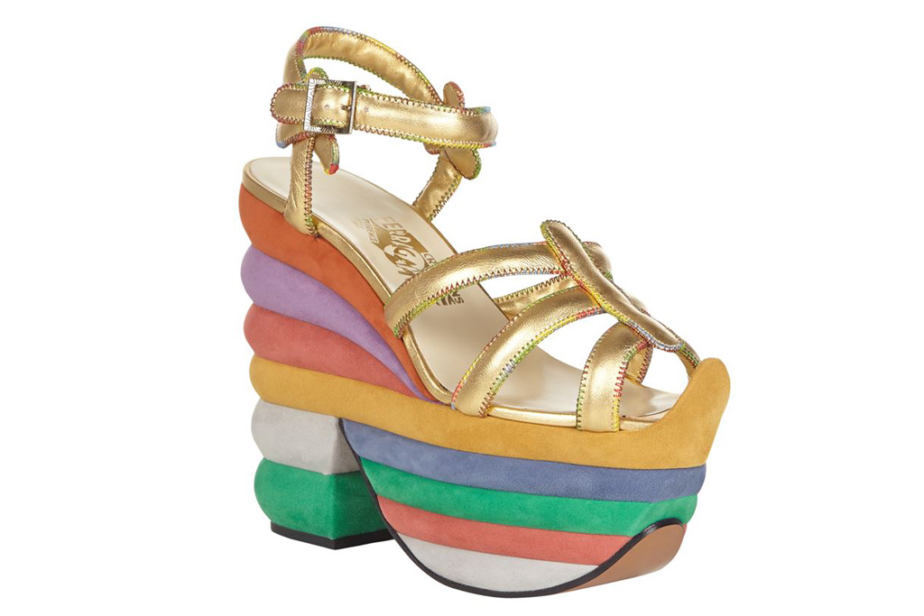Salvatore Ferragamo Rainbow Platforms