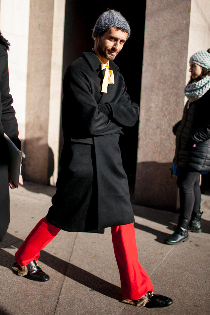 Gucci S Fur Loafers Seen On The Streets Of Milan Men S Fashion Week Footwear News