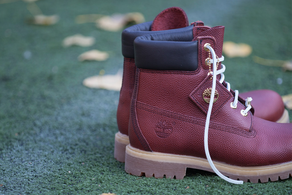Timberland's football leather boot