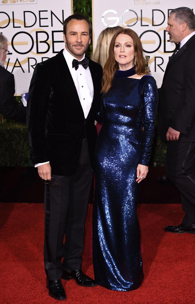Julianne Moore Golden Globes Red Carpet 2016