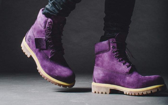 Villa Timberland Purple Boots