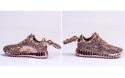 Custom Yeezy Boost Sneakers Keychain