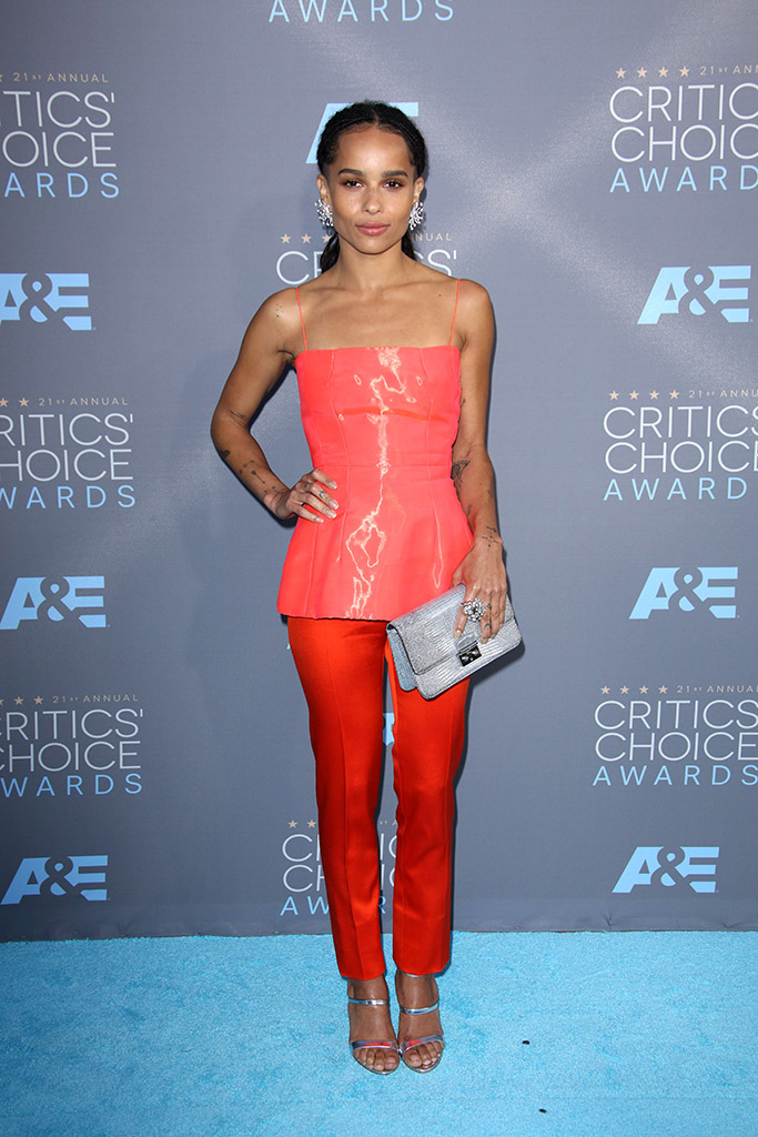 Zoe Kravitz Critics' Choice Awards 2016 Red Carpet