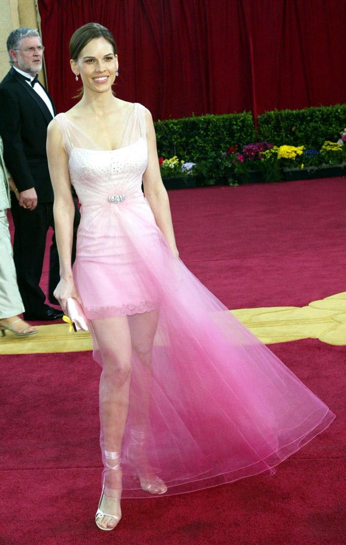 Hilary Swank in Jimmy Choo 2003 Oscars