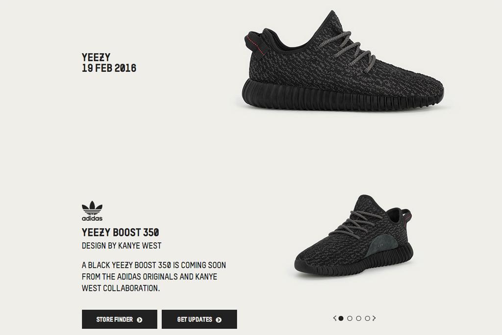 Adidas Black Yeezy Boost 350