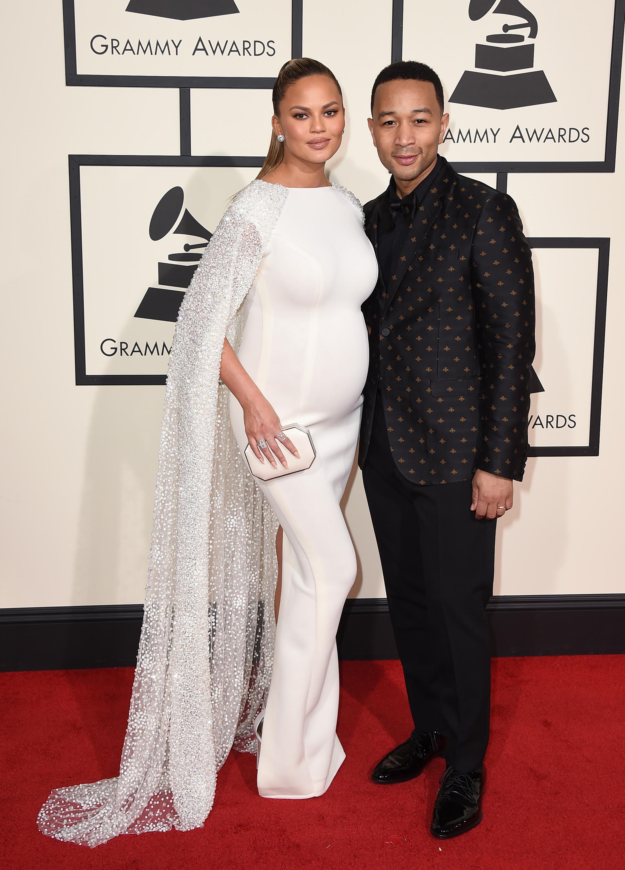 Chrissy Teigen John Legend 2016 Grammy Awards