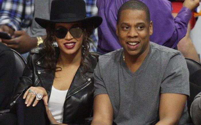 Beyoncé Jay Z L.A. Clippers Game