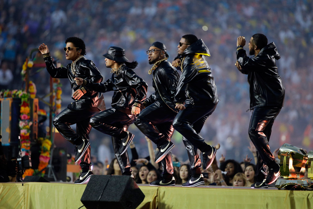 Bruno Mars Super Bowl 2016 Shoes