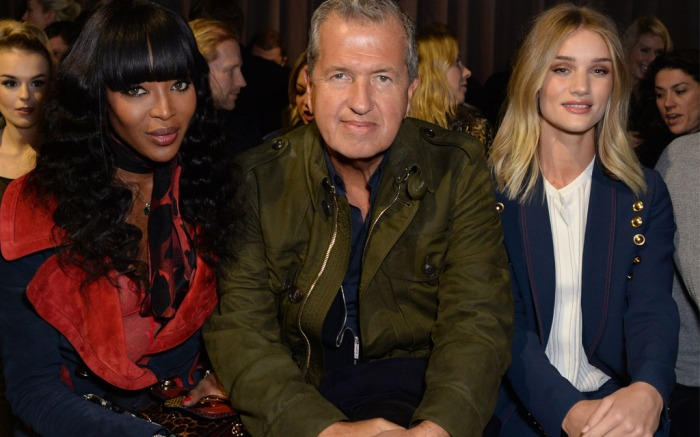 Front Row at Burberry Fall 2016 London Fashion Week