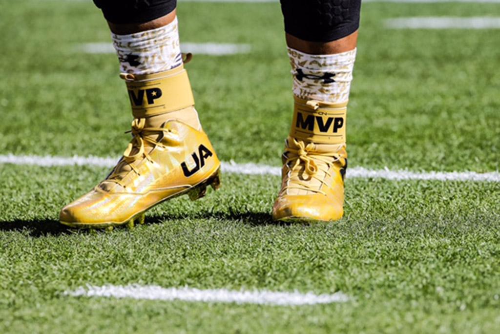 Cam Newton Super Bowl 50 Under Armour MVP CLeat