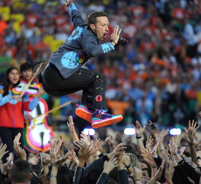 Chris Martin Super Bowl 2016 Shoes