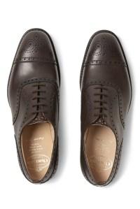 A pair of Church's men's shoes.