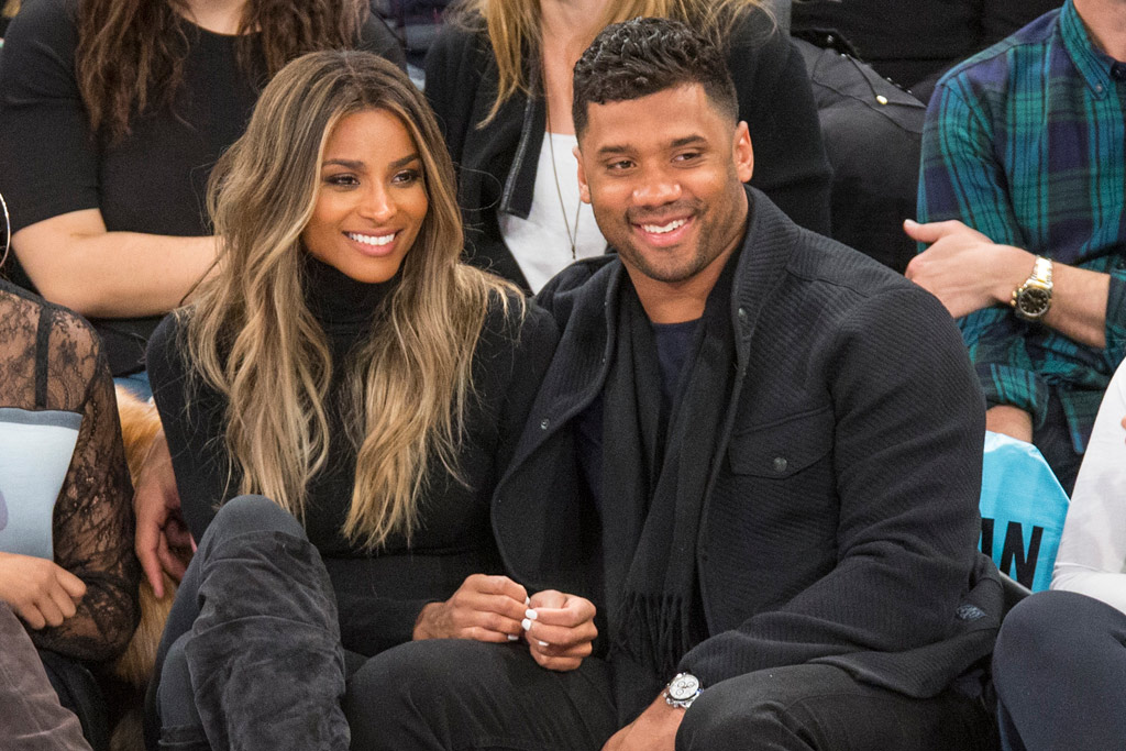 Ciara Russell Wilson New York Knicks Game