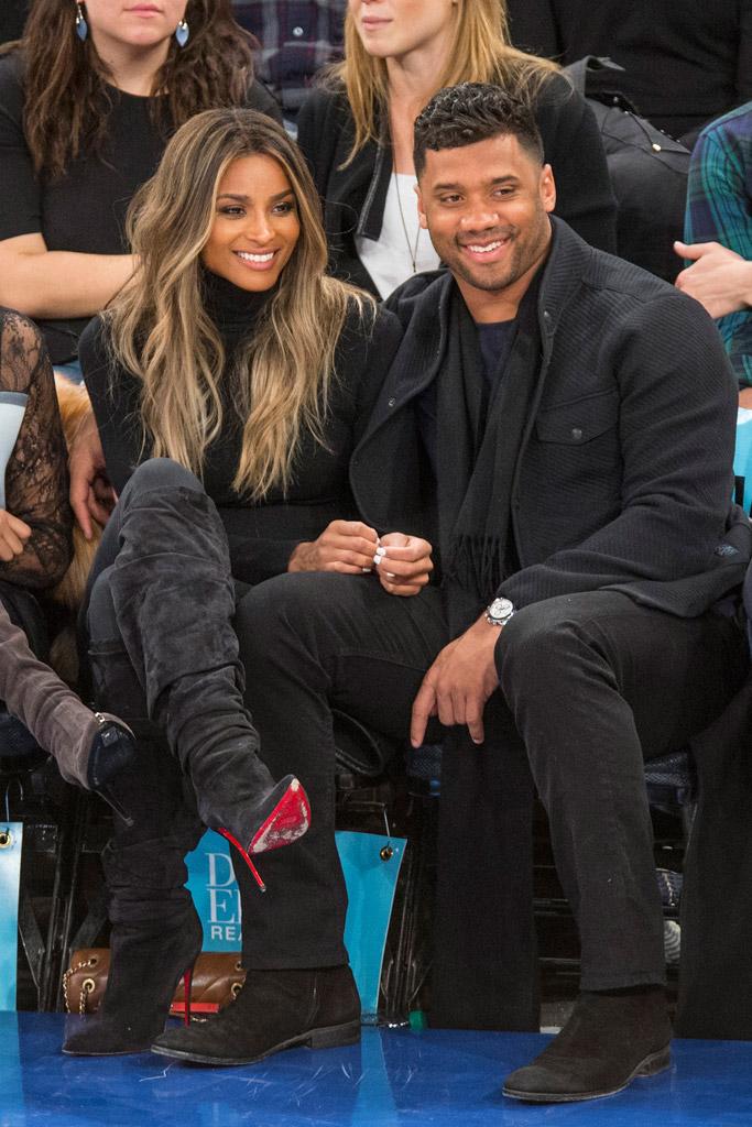 Ciara Russell Wilson New York Knicks Game