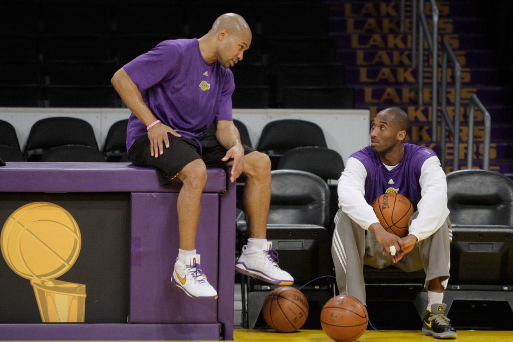 Derek Fisher Kobe Bryant Nike Los Angeles Lakers
