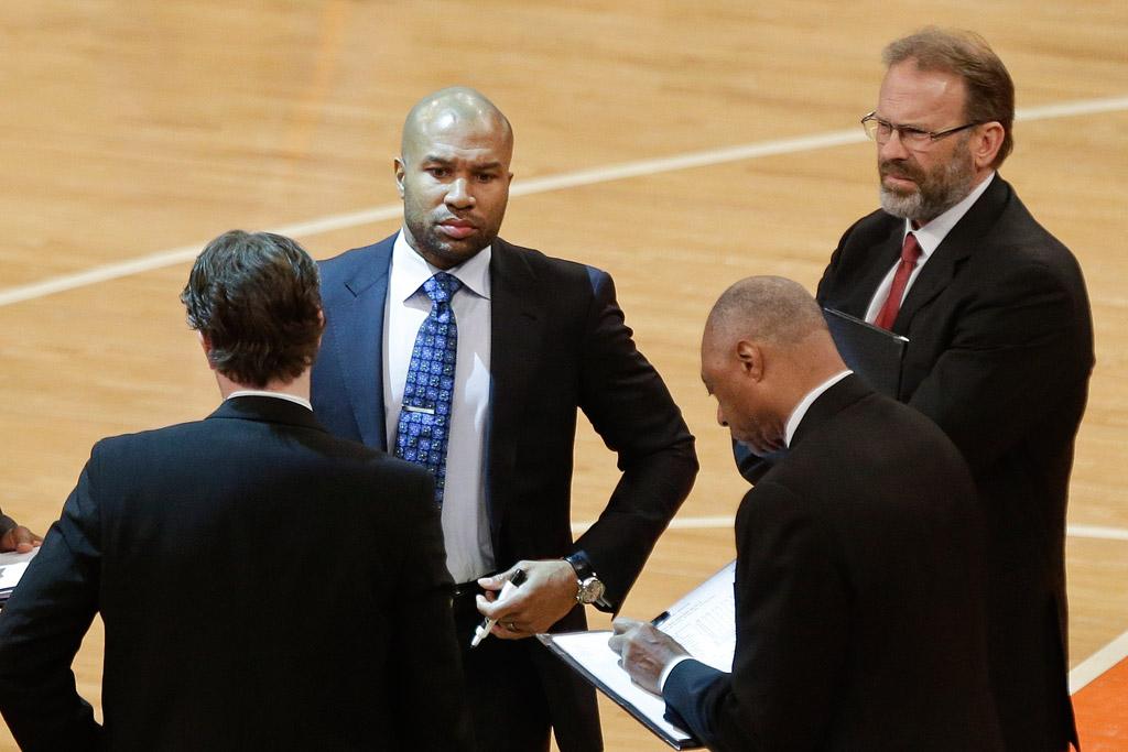 Derek Fisher Kurt Rambis New York Knicks