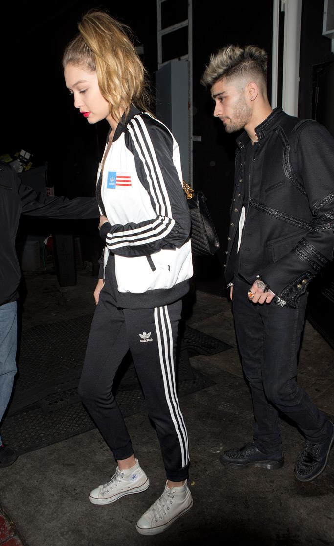 Gigi Hadid Adidas Tracksuit Converse All Stars