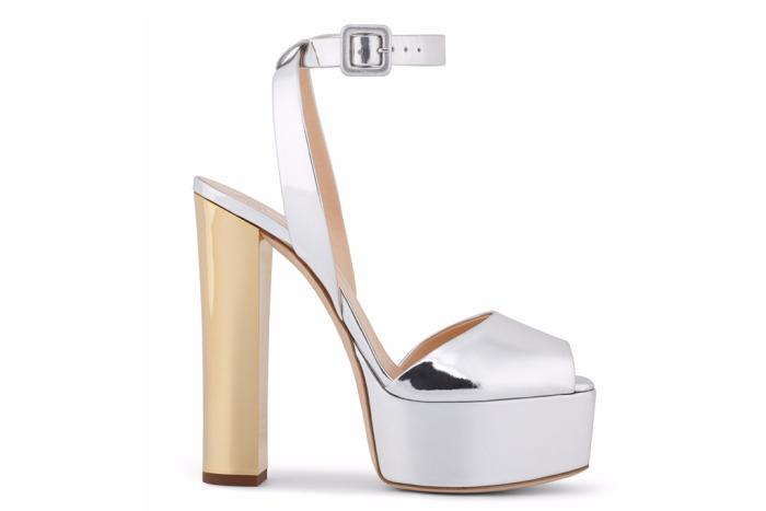 Giuseppe Zanotti Betty Silver Metallic Sandals