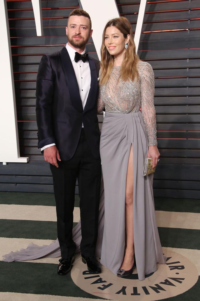 Jessica Biel Justin Timberlake 2016 Oscars After Party