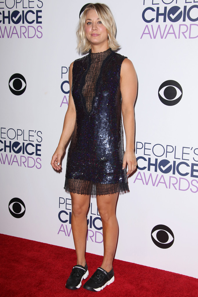 Kaley Cuoco People's Choice Awards Dior Sneakers