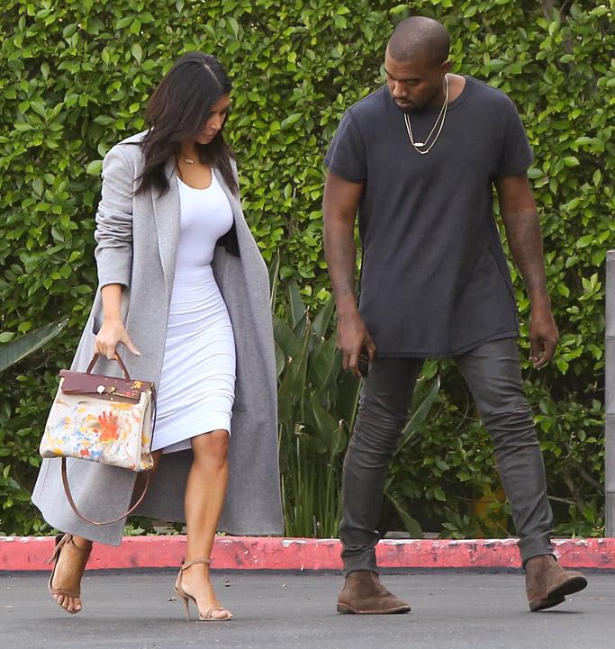 Kim Kardashian Hermes Painted Bag