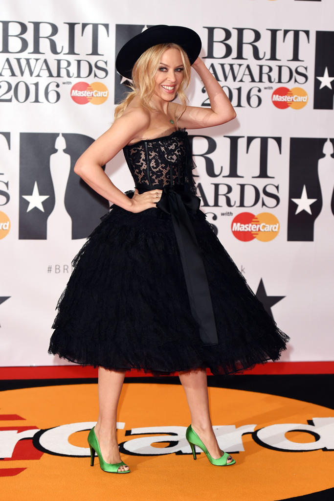 Kylie Minogue 2016 Brit Awards