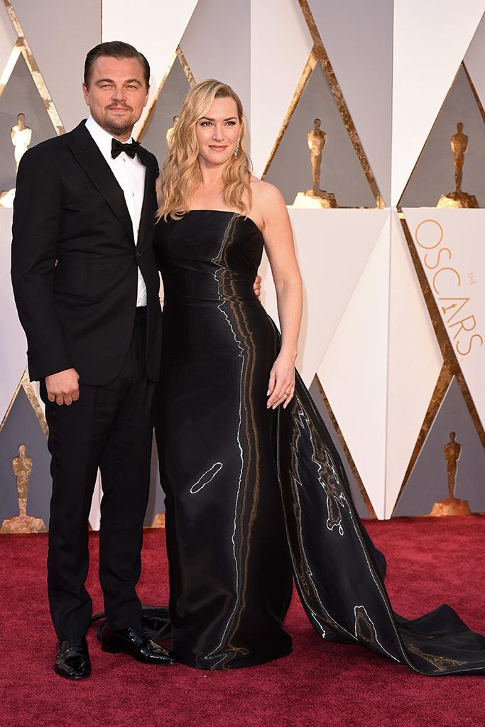 Leo DiCaprio Kate Winslet 2016 Oscars