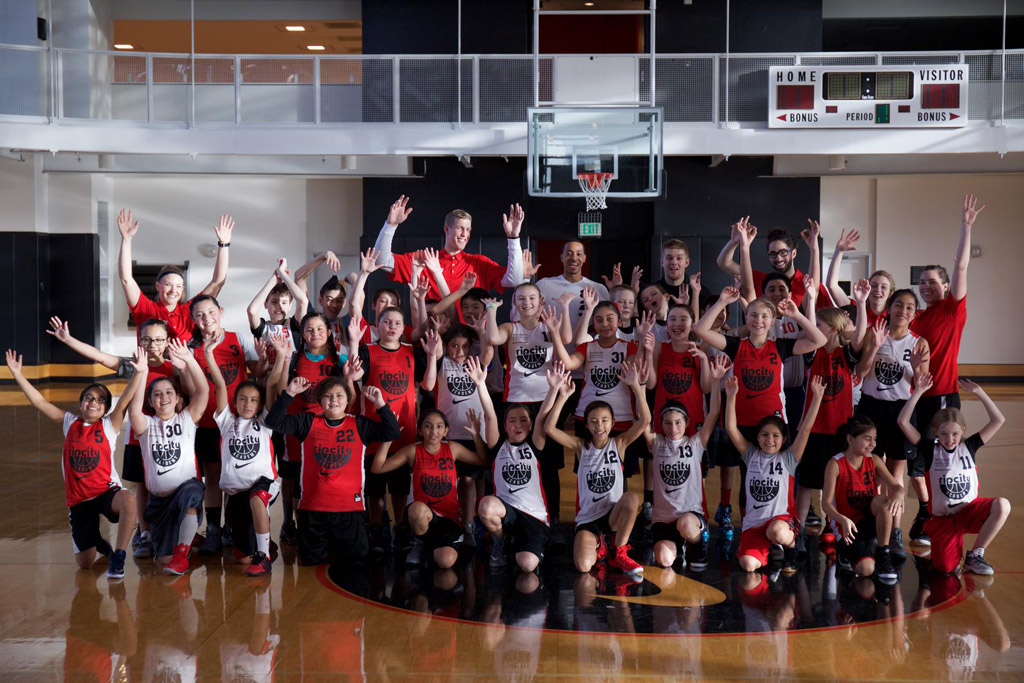 Rip City Academy Nike Portland Trail Blazers Mason Plumlee CJ McCollum