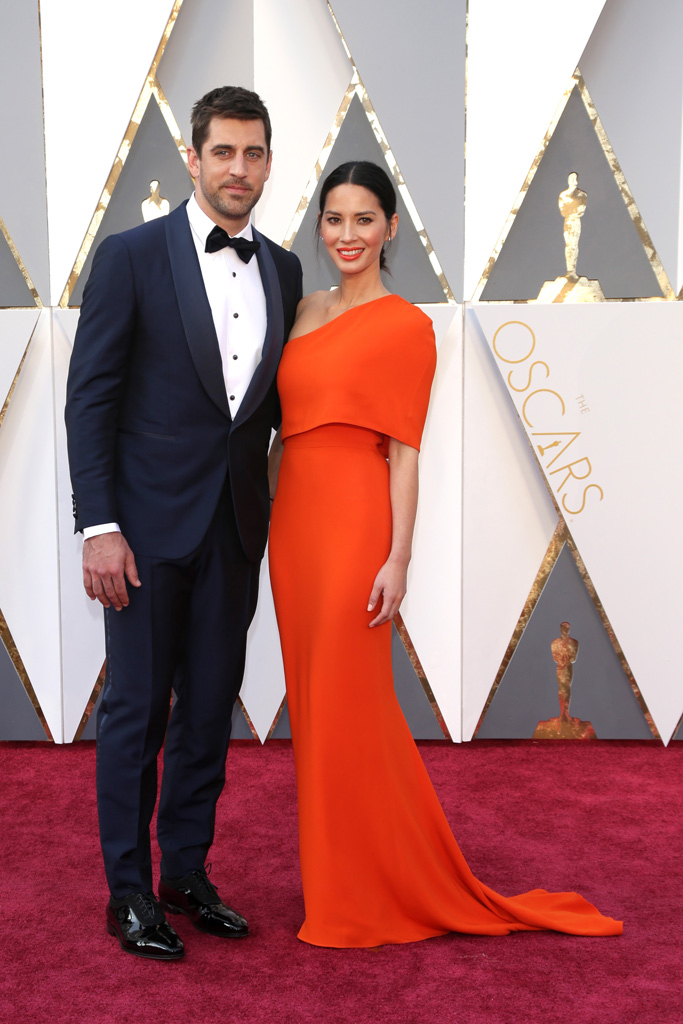 Aaron Rodgers Olivia Munn 2016 Oscars