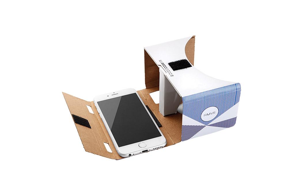 Rebecca Minkoff's Google Cardboard headset