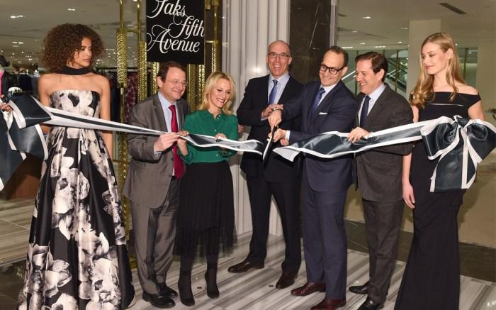 Saks Fifth Avenue ribbon cutting in Toronto