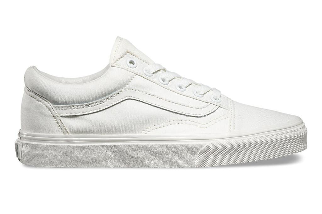Vans Canvas Old Skool White Sneakers