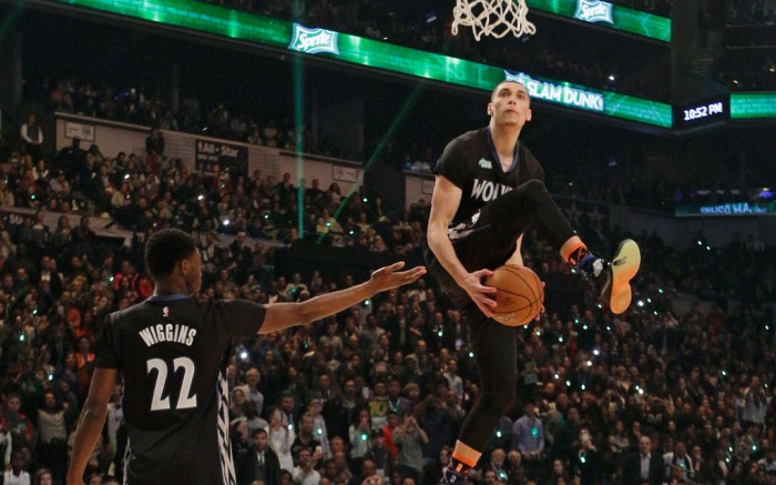 Zach LaVine Andrew Wiggins 2015 NBA Slam Dunk Contest